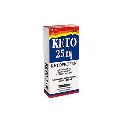 KETO 25 mg tabl, kalvopääll 15 fol