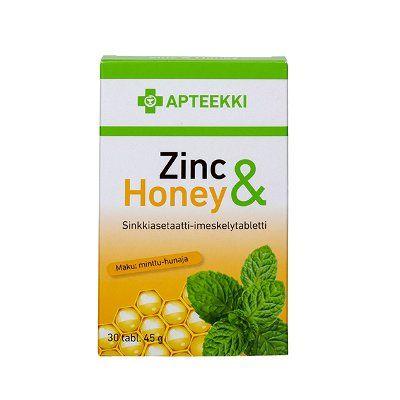 APTEEKKI Zinc & Honey 30 tabl