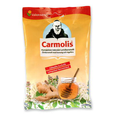 Carmolis Inkivääri-Hunaja Karamelli  72 g