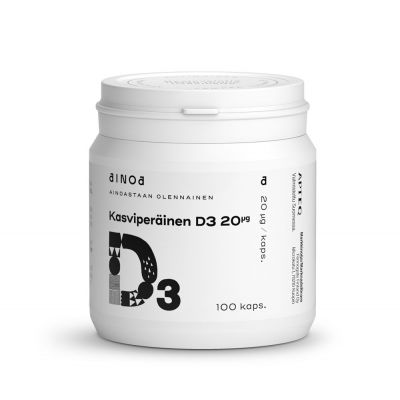 Ainoa Kasviperäinen D3 20 mikrog 100 kaps
