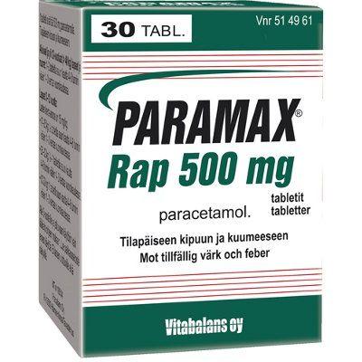PARAMAX RAP 500 mg tabl 30 kpl