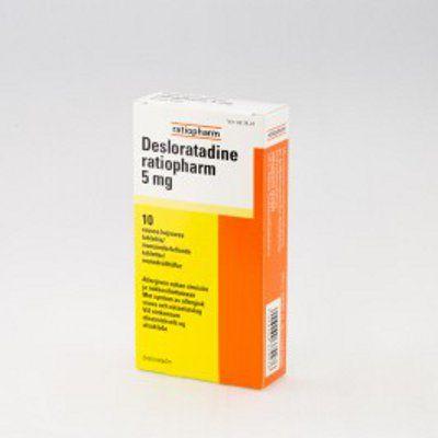 DESLORATADINE RATIOPHARM 5 mg tabl, suussa hajoava 10 fol