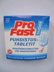 PROFAST PUHDISTUSTABLETIT PROTEESEILLE 32 TABL