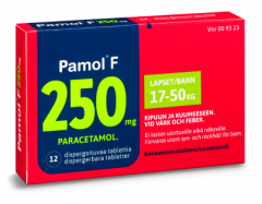 PAMOL F 250 mg disperg tabl 12 fol