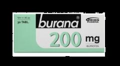 BURANA 200 mg tabl, kalvopääll 30 fol