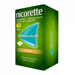 NICORETTE FRUITMINT 4 mg lääkepurukumi 105 fol