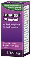 LOMUDAL 20 mg/ml silmätipat, liuos 10 ml