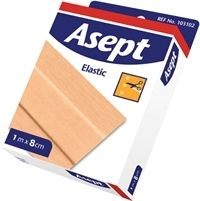 Asept laastari Elastic 1m x 8 cm 1 kpl
