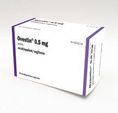OVESTIN 0,5 mg emätinpuikko 30 fol